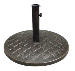 Round Polystone Umbrella Base - Bronze