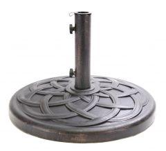 Polystone Round Umbrella Base - Bronze