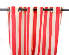 "54"" x 84"" Cherry Stripe Curtain Panel"