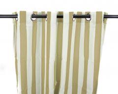 "54"" x 84"" Khaki Stripe Curtain Panel"