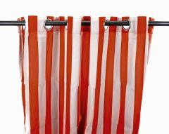 "54"" x 84"" Rust Stripe Curtain Panel"