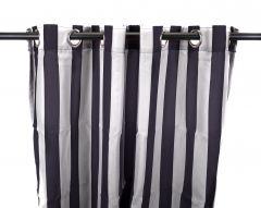 "54"" x 84"" Navy Stripe Curtain Panel"