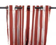 "54"" x 84"" Pompeii Red Stripe Curtain Panel"