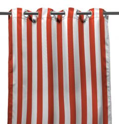 "54"" x 84"" Melon Stripe Curtain Panel"