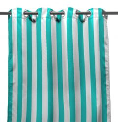 "54"" x 84"" Ocean Stripe Curtain Panel"