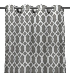 "54"" x 84"" Cayo Gray Curtain Panel"
