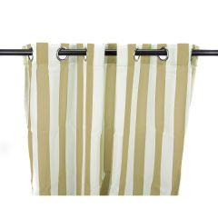 "54"" x 96"" - Linen Stripe Curtain Panel"