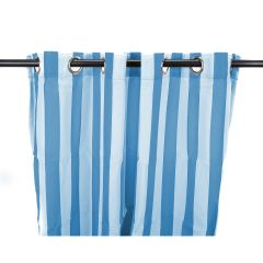 "54"" x 96"" Caribbean Blue Stripe Curtain Panel"