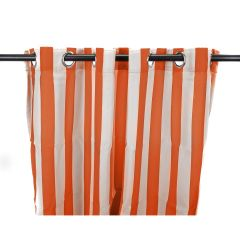 "54"" x 96"" Tangerine Stripe Curtain Panel"