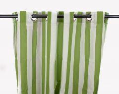 "54"" x 96"" Sage Stripe Curtain Panel"