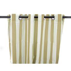 "54"" x 96"" Khaki Stripe Curtain Panel"