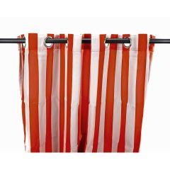 "54"" x 96"" Rust Stripe Curtain Panel"