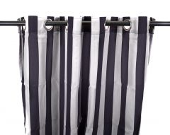 "54"" x 96"" Navy Stripe Curtain Panel"