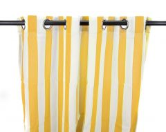 "54"" x 96"" Canary Stripe Curtain Panel"