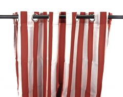 "54"" x 96"" Pompeii Red Stripe Curtain Panel"