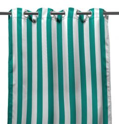 "54"" x 96"" Teal Stripe Curtain Panel"