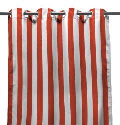 "54"" x 96"" Melon Stripe Curtain Panel"
