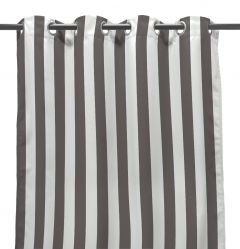 "54"" x 96"" Gray Stripe Curtain Panel"