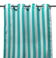 "54"" x 96"" Ocean Stripe Curtain Panel"
