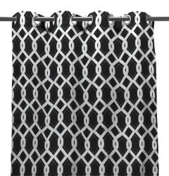 "54"" x 96"" Cayo Black Curtain Panel"