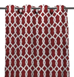 "54"" x 96"" Cayo Pompeii Red Curtain Panel"