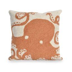 Liora Manne Frontporch Octopus Indoor/Outdoor Pillow Coral