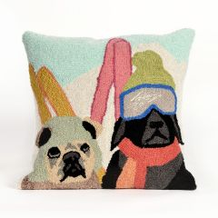 Liora Manne Frontporch Ski Patrol Indoor/Outdoor Pillow Multi