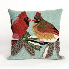 Liora Manne Frontporch Cardinals SkyIndoor/Outdoor Pillow