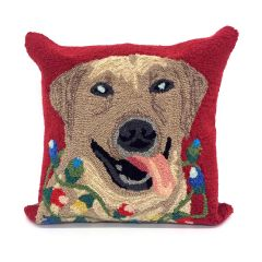 Liora Manne Frontporch Happy Holidays Red Indoor/Outdoor Pillow