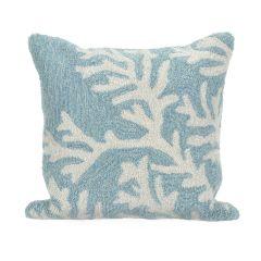 Liora Manne Frontporch CoralIndoor/Outdoor PillowAqua