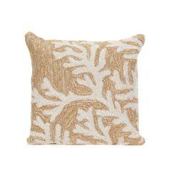 Liora Manne Frontporch Coral Neutral Indoor/Outdoor Pillow