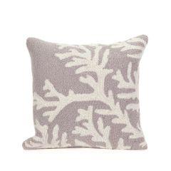Liora Manne Frontporch Coral Silver Indoor/Outdoor Pillow