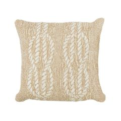 Liora Manne Frontporch Ropes Indoor/Outdoor Pillow Neutral