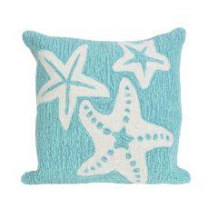 Liora Manne Frontporch Starfish Indoor/Outdoor Pillow Aqua