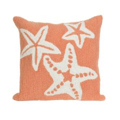 Liora Manne Frontporch Starfish Indoor/Outdoor Pillow Coral