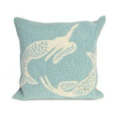 Liora Manne Frontporch Mermaids Indoor/Outdoor Pillow Aqua