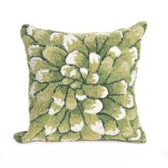 Liora Manne Frontporch Mum Indoor/Outdoor Pillow Green