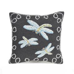 Liora Manne Frontporch Dragonfly Midnight Indoor/Outdoor Pillow