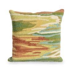 Liora Manne Frontporch Watercolor Indoor/Outdoor Pillow Green