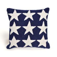 Liora Manne Frontporch Stars Indoor/Outdoor Pillow Blue