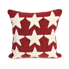 Liora Manne Frontporch Stars Indoor/Outdoor Pillow Red