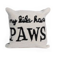 Liora Manne Frontporch My Kids Have Paws Indoor/Outdoor Pillow Neutral