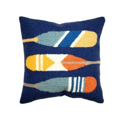 Liora Manne Frontporch Paddles Indoor/Outdoor Pillow Navy