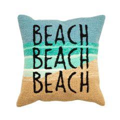 Liora Manne Frontporch Beach Beach Indoor/Outdoor Pillow Ocean