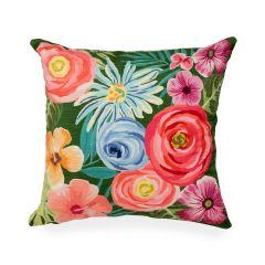Liora Manne Illusions Flower Garden Indoor/Outdoor Pillow Green