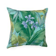 Liora Manne Illusions Tropical Leaf Indoor/Outdoor Pillow Aqua