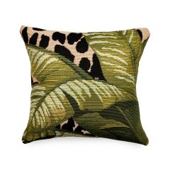 Liora Manne Marina Safari Indoor/Outdoor Pillow Green