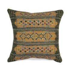 Liora Manne Marina Tribal Stripe Indoor/ Outdoor Pillow Green