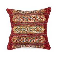 Liora Manne Marina Tribal Stripe Indoor/ Outdoor Pillow Red