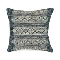 Liora Manne Marina Tribal Stripe Indoor/ Outdoor Pillow Denim